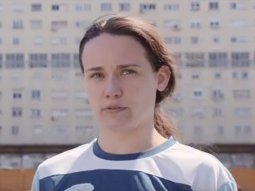 Orbit Female Football Player Commercial