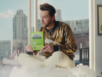 Simple Mobile Commercial - Man on a Cloud