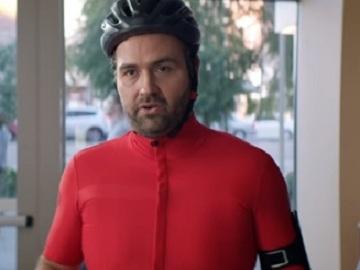 Wells Fargo Commercial - Bicyclist