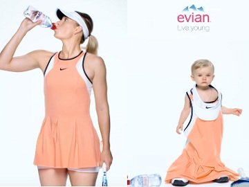 Evian Oversized Commercial Maria Sharapova Madison Keys