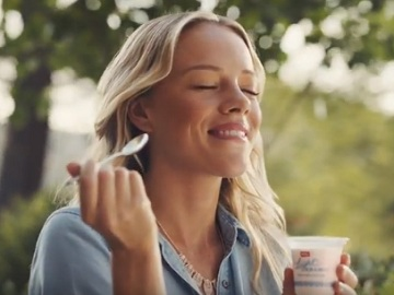 Woman in Muller Yogurt TV Advert