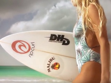 Malibu Rum Commercial - Surfer Alana Blanchard