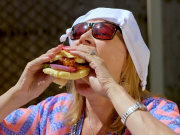 Just Eat TV Advert: Burger with Halloumi