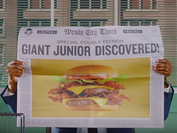 Wendy's Giant Cheeseburger Commercial
