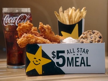 Carl's Jr. Commercial - $5 All Star Meals