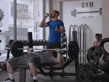 McDonald's McCafé Commercial - Bench Press
