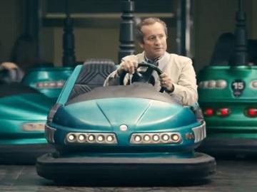 Esurance Commercial - Man Driving Electric Bumper Car