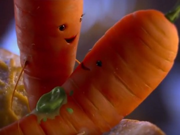 Aldi Advert - Kevin the Carrot In Love