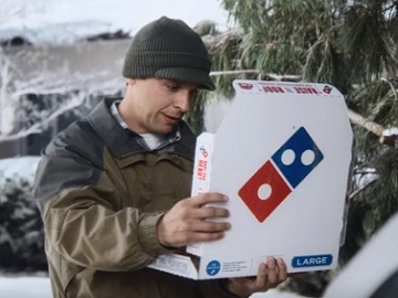 Domino's Pizza Commercial - Guy Slipping On Ice