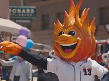 Farmers Insurance Commercial - Red Hot Mascot