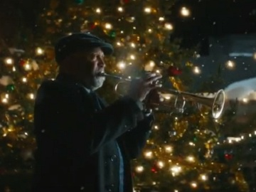 Interac Christmas Commercial - Man Playing the Trumpet