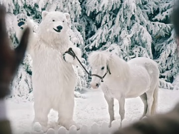 Lidl Christmas TV Advert - Pony and Polar Bear