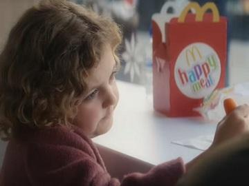 Girl with Carrot - McDonald's Christmas TV Advert
