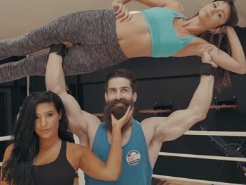 Guy Lifting Woman - The Beard Club Commercial