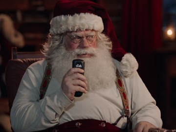 Santa in DISH Voice Remote Commercial