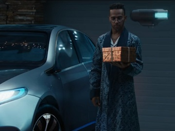 Old Lewis Hamilton in Mercedes Commercial