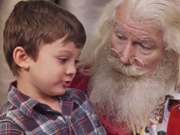 Pillsbury Christmas Commercial: Santa