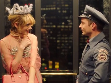 Prada The Postman Commercial - Elijah Wood & Natalia Dyer