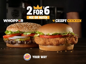 Burger King 2 for $6 Commercial