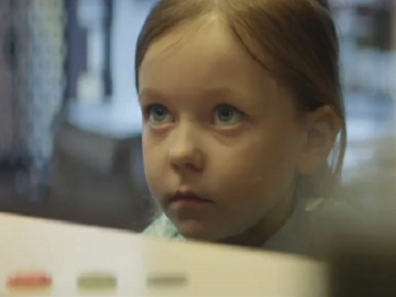 Little Girl in Cadbury TV Advert