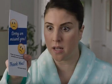 Woman in DISH Commercial
