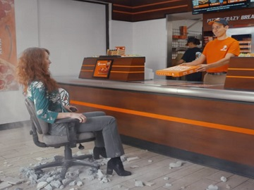 Woman in Little Caesars Pizza Commercial