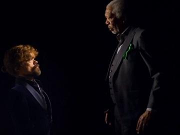 Peter Dinklage vs. Morgan Freeman - Mountain Dew & Doritos Commercial