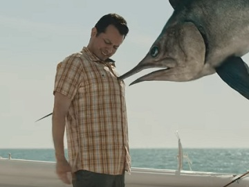 TurboTax Commercial - Man Impaled by Swordfish