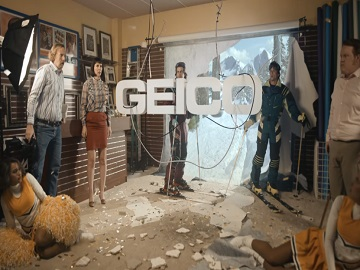 GEICO Commercial - Couple, Skiers and Cheerleaders