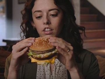 Girl in McDonald's Big Mac Jr. Commercial