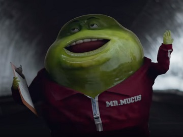 Mr. Mucus in Mucinex Super Bowl Commercial
