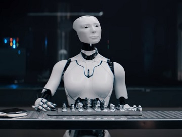 Robot Evelyn in Sprint Super Bowl 52 Commercial