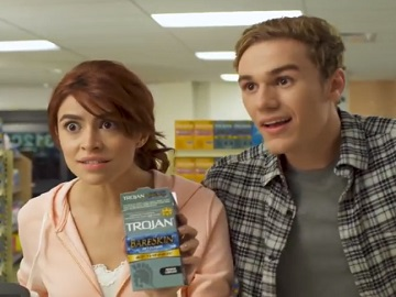 Couple in Trojan BareSkin Condoms Commercial