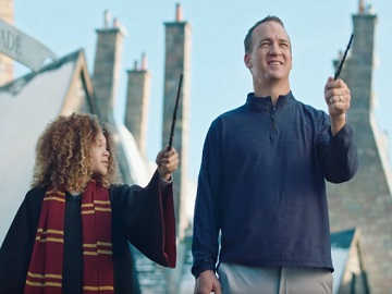 Peyton Manning in Universal Parks & Resorts Commercial