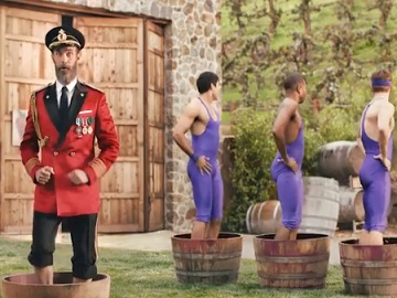 Hotels.com Commercial - Captain Obvious Stomping Grapes