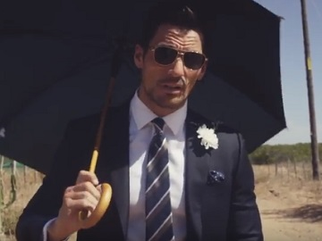 Model David Gandy in M&S Advert