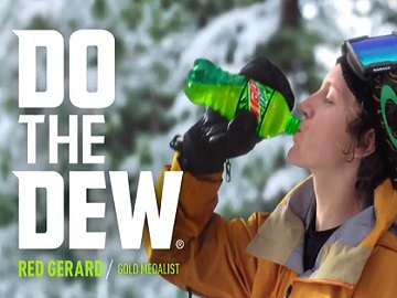 Mountain Dew Commercial - Snowboarder Red Gerard