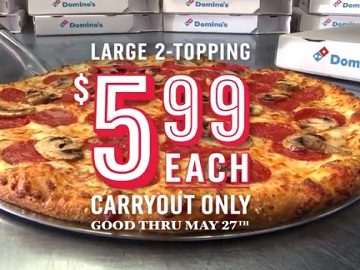 Domino's Pizza Large 2-Topping Commercial