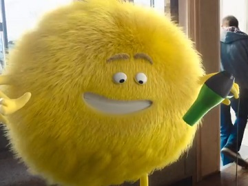 Cricket Wireless Commercial - Fluffly Yellow Mascot