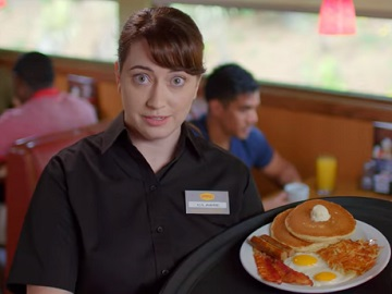 Denny's Super Slam Commercial Girl