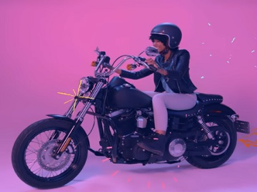 Yahoo Mail Commercial - Woman on Motorcycle