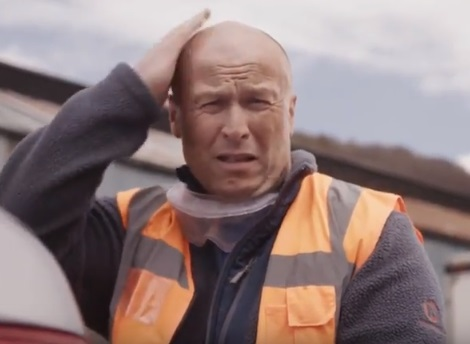 Confused Bald Tyres Advert