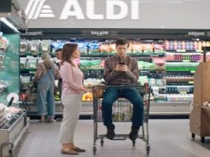 Aldi Commercial - Guy in Shopping Cart
