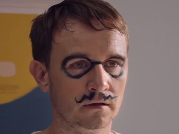 NatWest Advert - Father with Drawn Mustache