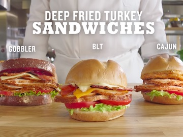 Arby's Deep Fried Turkey Sandwiches Commercial