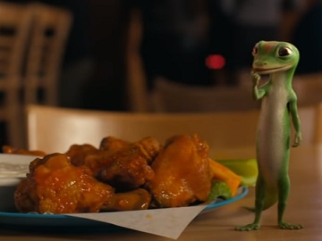 GEICO The Gecko Eats Buffalo Wings Commercial