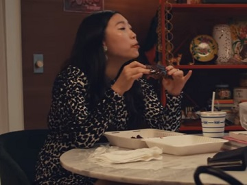 Google Assistant Awkwafina Eating Commercial
