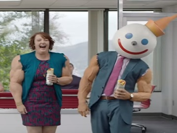 Jack in the Box Commercial - People with big Muscles