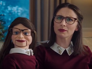 U.S. Cellular Ventriloquist Woman Dummy Commercial