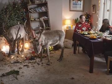 Lidl Reindeer Christmas Advert